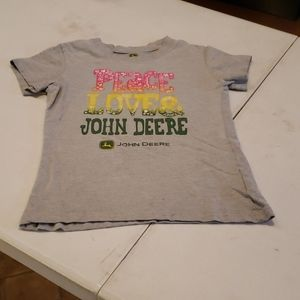 John Deere Shirts & Tops - 3/$20 John Deere peace & love gray shirt girls